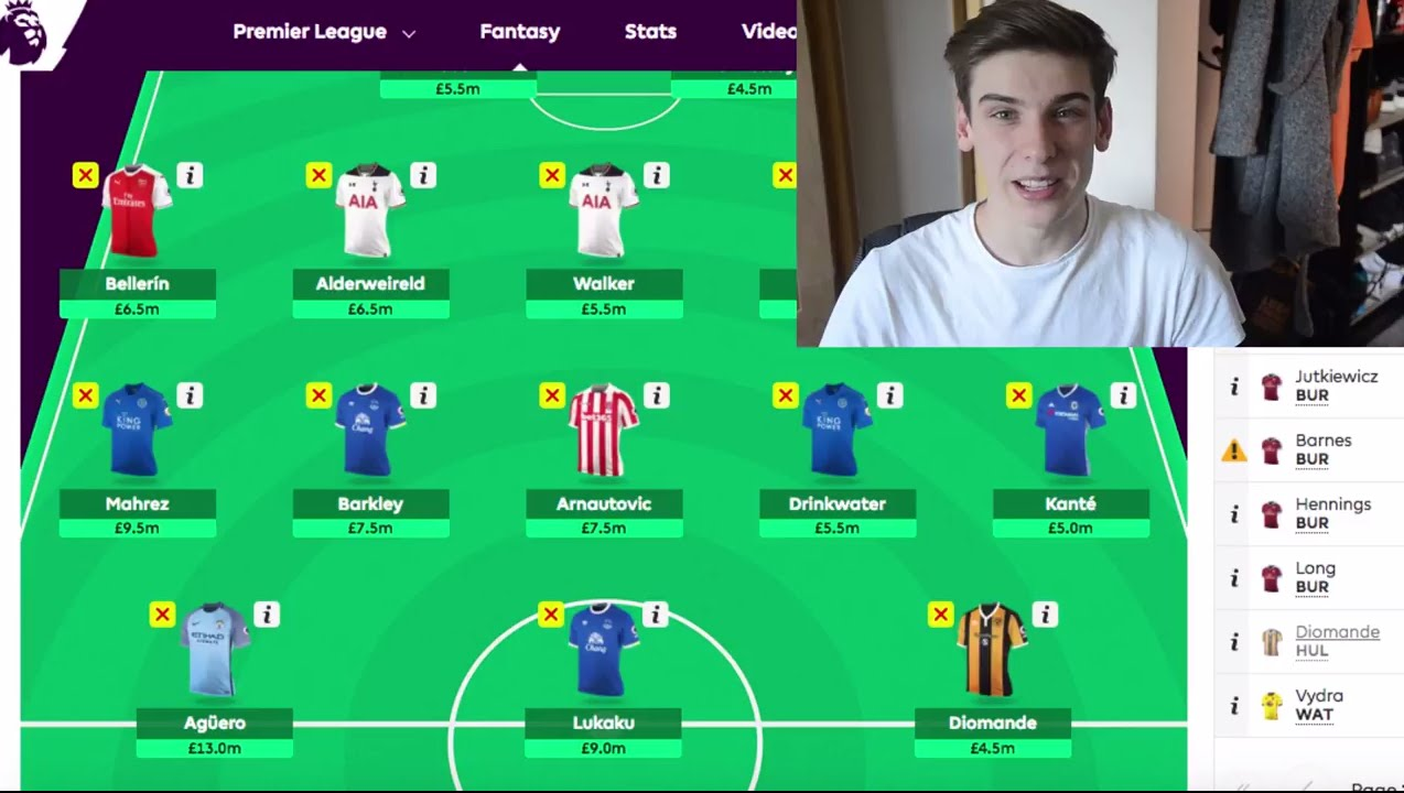 HOW TO MAKE THE BEST FANTASY FOOTBALL TEAM - YouTube