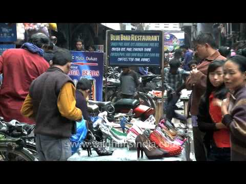 Shoes, shoes and more shoes at Dimapur Hong kong market