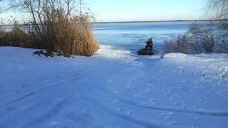 Аэролодка. Киев. Зимняя рыбалка..