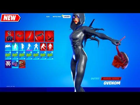 I added She-Venom (aka Gvenom, Female Venom) in Fortnite シ
