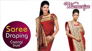 How To Drape A Saree | Coorgi Adapted Style | Quick Saree Draping Tutorial