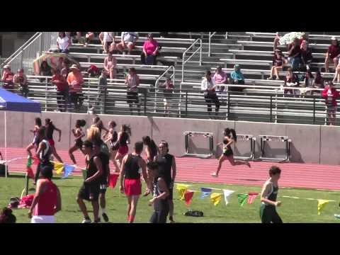 Rafer Johnson @ Kingsburg: Girls 800m#2: 3/22/2014