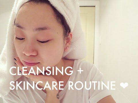 Makeup Removing Cleansing Skincare Routine