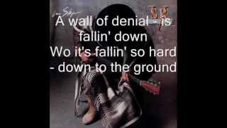 Wall of Denial - Stevie Ray Vaughan - In Step - 1989 lyrics (HD)