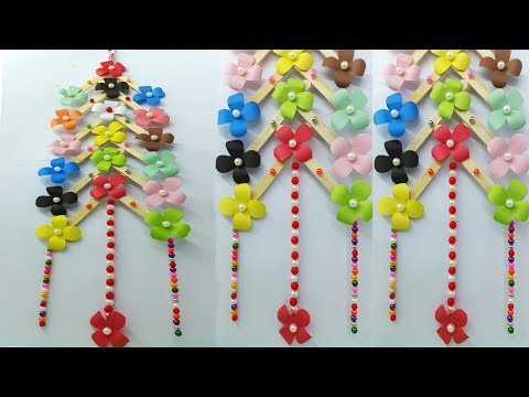 DIY crafts for room decor-wall hanging for home | Paper Flower Wall Hanging | Wall Hanging Ideas new