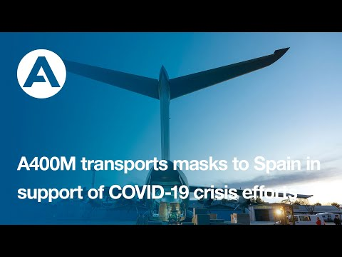 A400M transports masks to Spain in support of COVID-19 crisis efforts
