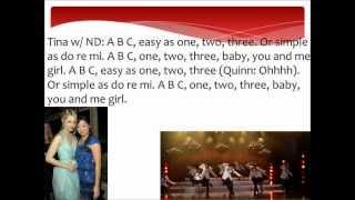 ABC Glee Lyrics