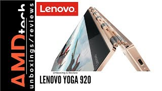 Lenovo Yoga 920 Unboxing & Review:  The Best 2-in-1 Convertible Got Better with a Quad-Core CPU