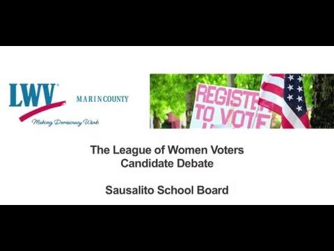 Marin Candidates Debate 2016 - Sausalito School Board