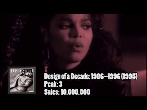 Janet Jackson: Her Albums Sales and Chart history