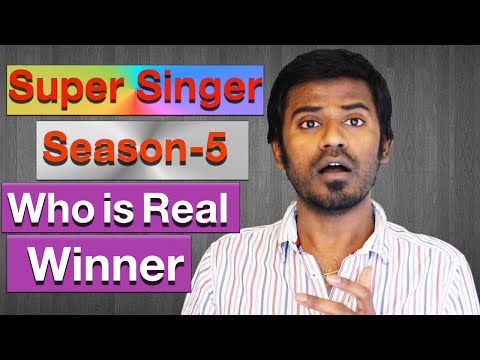Vijay tv super singer season 5 final who is real winner