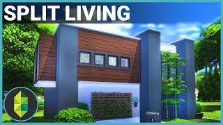 Split Living (Modern, Family Home) | The Sims 4 House Building