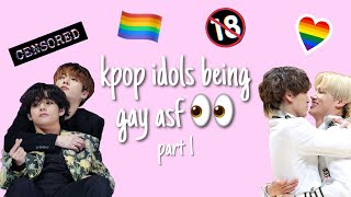 kpop idols being less than straight