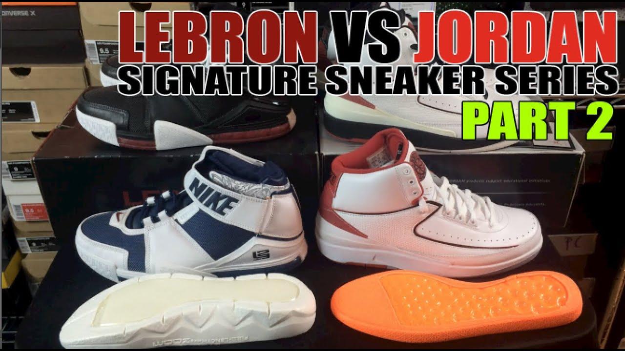 14e5ae4a6c7183 Jordan vs Lebron Sneakers Series Part 2  Air Jordan 2 vs Nike Zoom Lebron 2