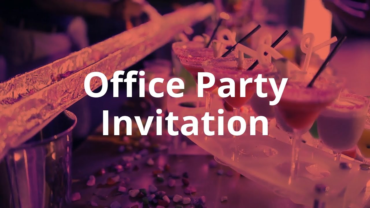 Office Party Invitation Video Template (Editable)