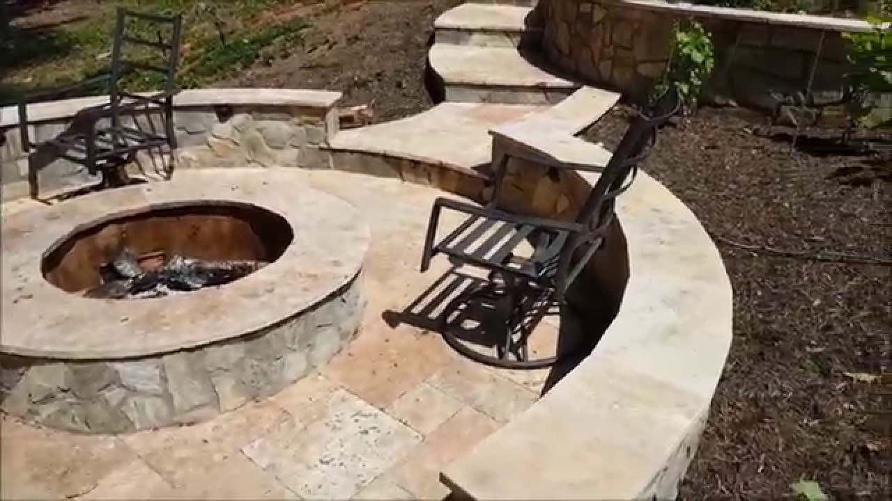 Ordinaire Travertine Patios, Walkways, Retaining Walls, And Fire Pit In Northern  Virginia
