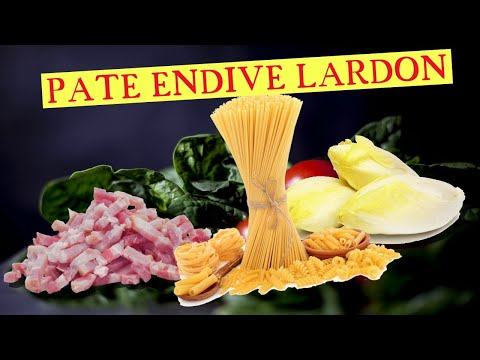 ma-recette-de-la-sauce-crème-lardons-chicon-(endive)-pour-pate-,-penne.