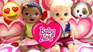 BABY ALIVE has a PLAYDATE! PLAYING with the PUPPY. The Lilly and Mommy Show! The TOYTASTIC Sisters!