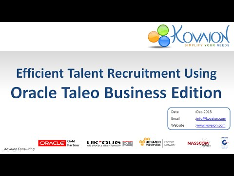 Taleo Webinar Efficient Talent Recruitment using Oracle Tale