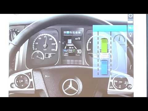 How to navigate the Actros Interactive Dash Controls