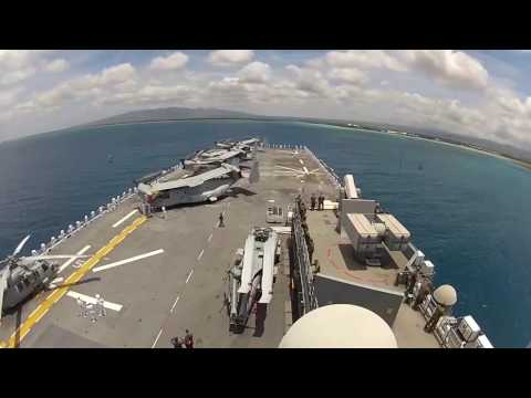 USS America Arrives at Pearl Harbor Timelapse