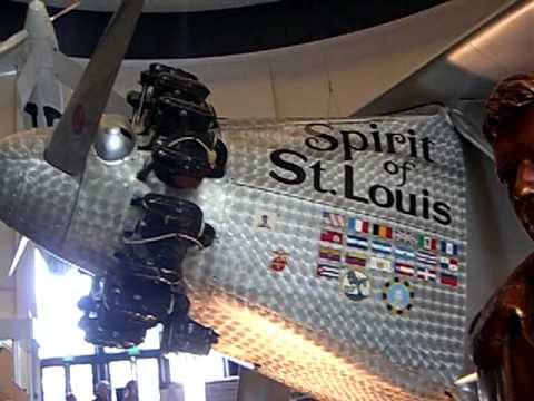 Close look at the Spirit of St. Louis NYP-3 a replica of ...