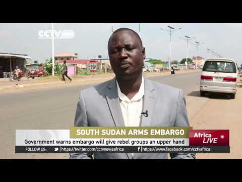 South Sudan says proposed arms embargo will derail a peace efforts