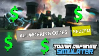 💸ALL WORKING CODES!💸 | Tower Defense Simulator | Roblox