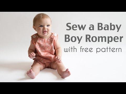 Sew a Baby Boy Romper