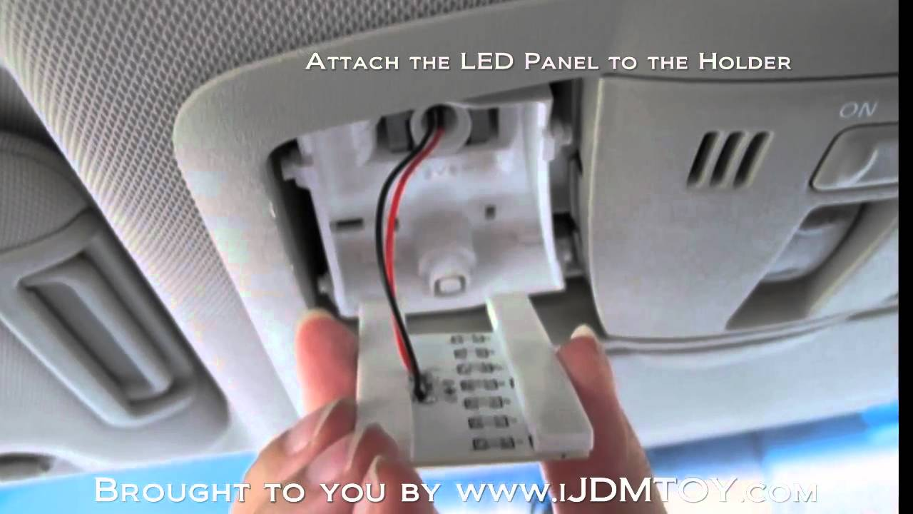 Diy installation guide for dome lights direct fit led interior package hd youtube for How to change interior light bulb in car