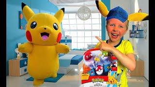 Богдан играет В ПРЯТКИ с ПИКАЧУ! Прикольные игрушки Покемоны. Для детей Kids Children