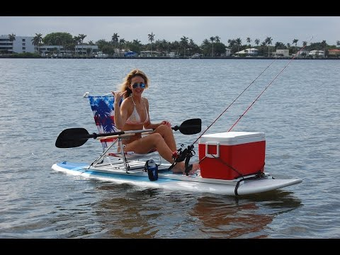 Paddle board fishing with the SUPTrax Fishing Platform
