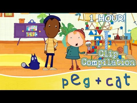 Peg + Cat - An Hour full of Songs, Crafts, Problem Solving and More! (1 HOUR)