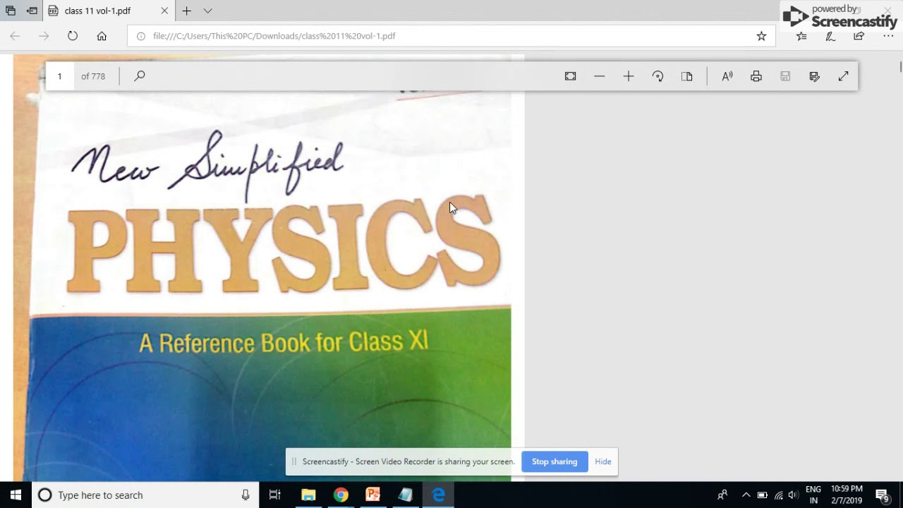 Download S L  Arora Class 11 Physics Volume 1 &2 free