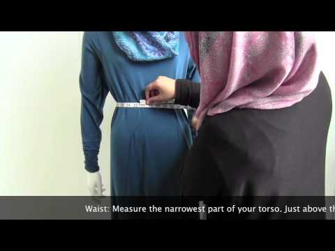 How to measure yourself to get a perfect fit jilbab