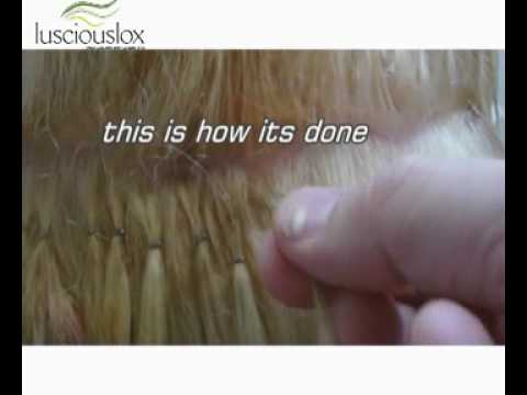 Lox tip hair extension youtube lox tip hair extension pmusecretfo Images