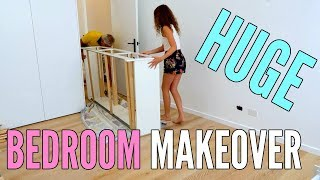REDOING MY ROOM! My Room Makeover + Room Tour 2018!