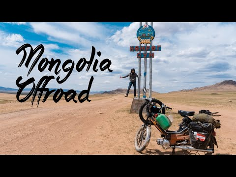 Mit dem Mofa in der kalten mongolischen Steppe   Puch Maxi Tour von der Mongolei nach Österreich