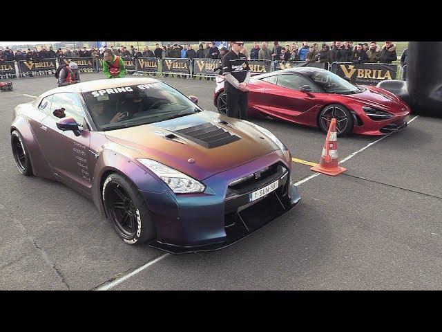 Liberty Walk Nissan GT-R R35 vs Mclaren 720S