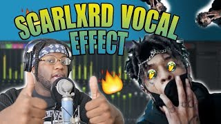 HOW TO SOUND LIKE SCARLXRD VOCAL EFFECT TUTORIAL! FL STUDIO