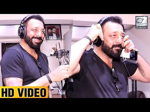 Sanjay Dutt Recording A Song For Film Bhoomi | LehrenTV