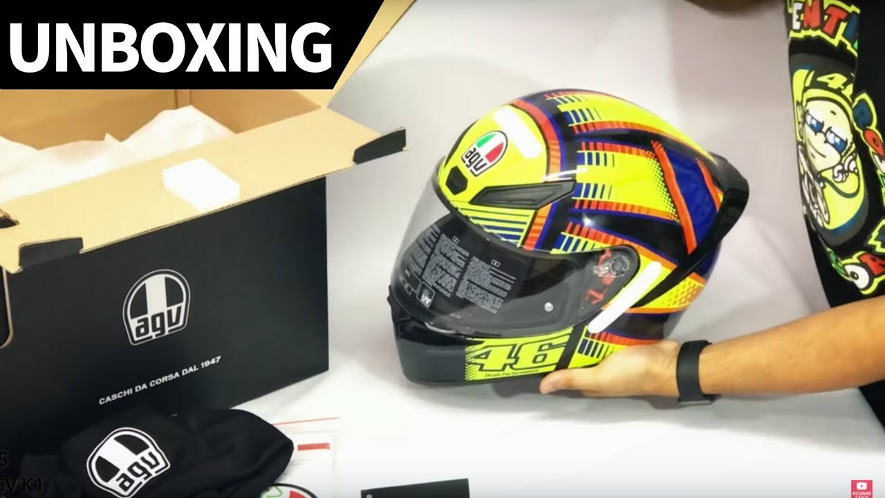 Unboxing Capacete Agv K1 Valentino Rossi Grid Motors Youtube