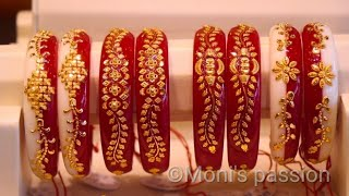 Huge collection of gold pola  bandhano with price and weight/pola bracelet/pola bangles#jewellery