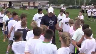 Tony Romo Football Camp 2014