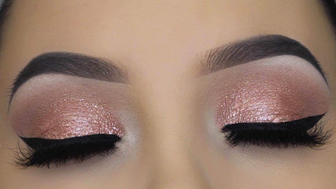 5 minute pink champagne eye makeup tutorial