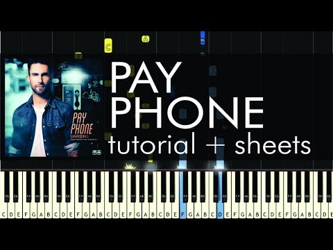 Maroon 5 - Payphone - Piano Tutorial - How to Play + Sheet Music