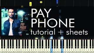 "How to Play ""Payphone"" by Maroon 5 - Piano Tutorial & Sheet Music"