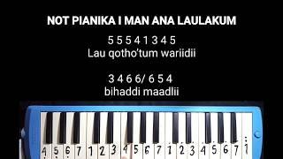 NOT PIANIKA  I MAN ANA LAULAKUM - SANTRI PLOSO