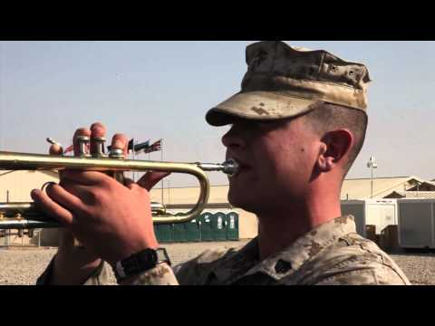 1st Marine Division (Forward) Band plays 'Taps'