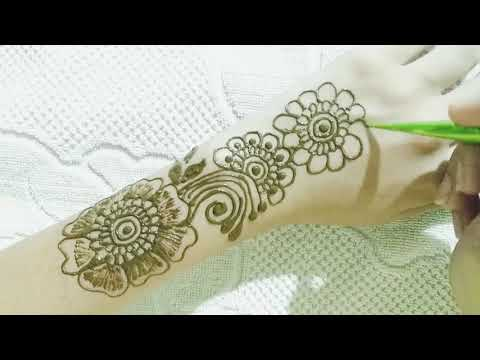 Very simple and attractive beautiful Mehndi Design  Very easy to apply  unique Mehndi Design#5